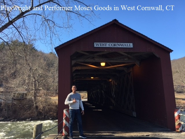 Playwright and Performer Moses Goods in West Cornwall, CT