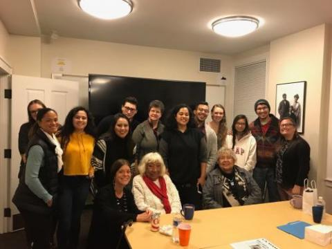 The Native American Cultural Center hosted a dinner and reception honoring Gloria Miguel and Muriel Miguel of Spiderwoman Theater